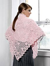 image of back view of shawl