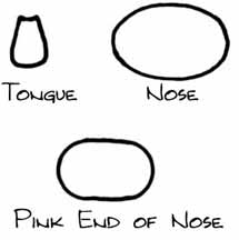 pig tongue and nose pattern image