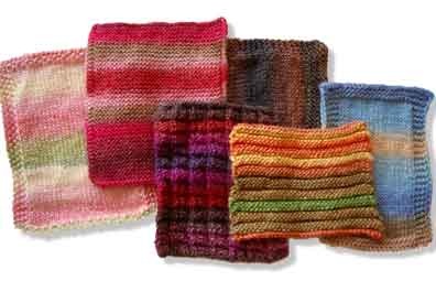 photo of knitted squares
